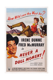 Never a Dull Moment, from Left: Fred Macmurry, Top: Irene Dunne, 1950 Prints