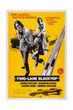 Two-Lane Blacktop, from Left: James Taylor, Laurie Bird, Dennis Wilson, 1971 Prints