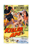 Killer Ape, Center: Johnny Weissmuller, Right: Carol Thurston, 1953 Prints