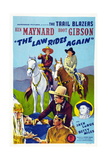 The Law Rides Again, Chief Thundercloud, Ken Maynard, Hoot Gibson, Betty Miles, 1943 Posters