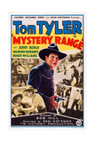 Mystery Range, Center: Tom Tyler, 1937 Poster