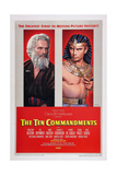 The Ten Commandments, from Left: Charlton Heston, Yul Brynner, 1956 Giclee Print
