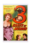 Three Cases of Murder, (Aka 3 Cases of Murder), Orson Welles, (Bottom Left), 1955 Posters