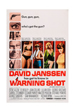 Warning Shot, David Janssen, (Left), Eleanor Parker, (Second Right), Stefanie Powers, (Right), 1967 Plakater