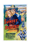 Sunset on the Desert, from Left: Lynne Carver, Roy Rogers, 1942 Prints
