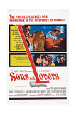 Sons and Lovers, Top Insert: Dean Stockwell with Mary Ure and Heather Sears, 1960 Giclée-tryk
