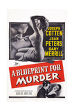 A Blueprint for Murder, Joseph Cotten, Jean Peters, 1953 Print