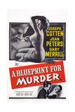 A Blueprint for Murder, Joseph Cotten, Jean Peters, 1953 Print