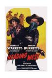 Heading West, from Back Left: Smiley Burnette, Charles Starrett, 1946 Print