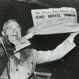 Harry S. Truman, President-Elect, Holds Up Edition of Chicago Daily Tribune Photo
