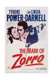 The Mark of Zorro, from Left: Linda Darnell, Tyrone Power, 1940 Prints