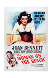 The Woman on the Beach, Joan Bennett, Robert Ryan, Charles Bickford, 1947 Poster