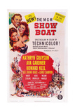 Show Boat, from Top: Howard Keel, Ava Gardner, Kathryn Grayson, 1952 Print