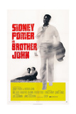 Brother John, Reclining from Left: Beverly Todd, Sidney Poitier, Sidney Poitier (Right), 1971 Giclee Print
