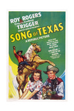 Song of Texas, from Left: Roy Rogers, Sheila Ryan, Roy Rogers, 1943 Posters