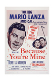 Because You're Mine, 1952 Posters