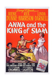 Anna and the King of Siam, from Left: Linda Darnell, Rex Harrison, Irene Dunne, 1946 Giclée-tryk