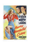 Having Wonderful Crime, from Left: Carole Landis, George Murphy, Pat O'Brien, 1945 Posters