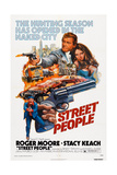 Street People, (Aka Gli Esecuton), Roger Moore (Top Left), Stacy Keach (Bottom), 1976 Prints
