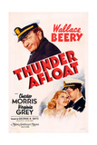 Thunder Afloat, Wallace Beery (Top), Bottom from Left: Virginia Grey, Chester Morris, 1939 Giclee Print