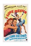 I Love Melvin, L-R: Debbie Reynolds, Donald O'Connor, Debbie Reynolds, 1953 Print