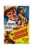 The Golden Stallion, from Top: Roy Rogers, Dale Evans, Trigger (Far Right), 1949 Prints