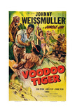Voodoo Tiger, Johnny Weissmuller (Left), 1952 Prints
