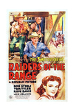 Raiders of the Range, from Top Left: Tom Tyler, Rufe Davis, Bob Steele, Lois Collier, 1942 Posters