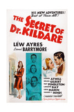 The Secret of Dr. Kildare, Center Insert from Top: Lew Ayres, Laraine Day, Lionel Barrymore, 1939 Art