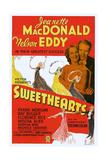 Sweethearts, Jeannette Macdonald, Nelson Eddy, 1938 Poster
