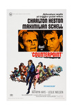 Counterpoint, Top from Left, Charlton Heston, Maximilian Schell, 1967 Posters