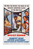 Billy Budd, Right from Top: Robert Ryan, Peter Ustinov, Terence Stamp, 1962 Posters