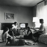 American Family Viewing Television in the Living Room of their Home, 1959 Photo