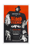 Blood Fiend, (Aka Theatre of Death), Top: Christopher Lee, 1967 Poster