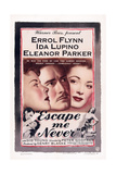 Escape Me Never, from Left: Ida Lupino, Errol Flynn, Eleanor Parker, 1947 Kunst
