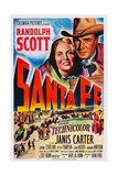 Santa Fe, Top from Left: Janis Carter, Randolph Scott, 1951 Art