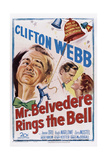 Mr. Belvedere Rings the Bell, from Left: Clifton Webb, Hugh Marlowe, Joanne Dru, 1951 Poster