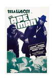 The Ape Man, Bottom from Left: Bela Lugosi, Henry Hall, 1943 Poster