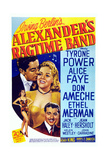 Alexander's Ragtime Band, from Left: Tyrone Power, Alice Faye, Don Ameche, 1938 Plakater