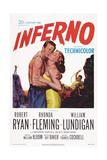 Inferno, from Left: William Lundigan, Rhonda Fleming, Robert Ryan, 1953 Prints