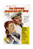 The Skipper Surprised His Wife, from Top: Joan Leslie, Robert Walker, 1950 Print