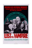 Lust for a Vampire, Lower Right: Ralph Bates, Upper Right: Ralph Bates, Yutte Stensgaard, 1971 Poster