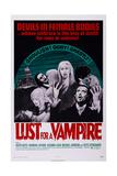 Lust for a Vampire, Ralph Bates, Ralph Bates, Yutte Stensgaard, 1971 Poster