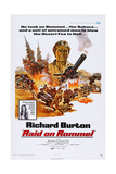 Raid on Rommel, Richard Burton (Top), Danielle De Metz (In Box), 1971 Art