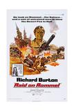Raid on Rommel, Richard Burton (Top), Danielle De Metz (In Box), 1971 Art