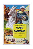 Texas Stampede, Charles Starrett, 1939 Poster