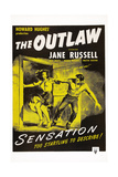 The Outlaw, L-R: Jane Russell, Jack Buetel, 1943 Giclee Print