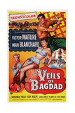 The Veils of Bagdad, from Left: Virginia Field, Mari Blanchard, Victor Mature, 1953 Prints