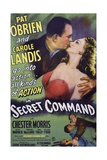 Secret Command Art Top, from Left: Pat O'Brien, Carole Landis, 1944 Prints