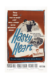 The Hasty Heart, from Left: Ronald Reagan, Patricia Neal, Richard Todd, 1949 Poster